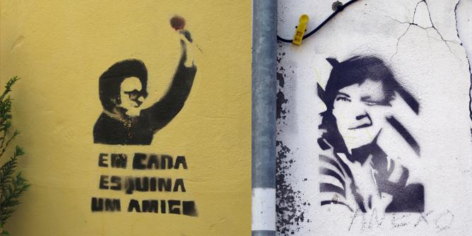 Grafitis en Coimbra