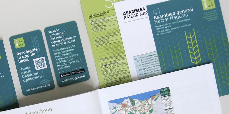 ELEMENTOS de comunicación UAGA design by aerredesign